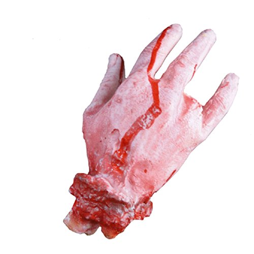 Sandistore Halloween Horror Props Bloody Hand Haunted House Party Decoration