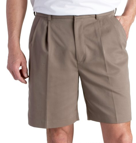 Izod Mens Shorts Golf Microfiber Double Pleat
