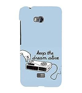 EPICCASE keep dream alive Mobile Back Case Cover For Micromax Q336 (Designer Case)