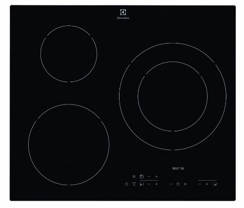 Electrolux E6113HIK Table Induction 3 foyers 3 boosters 7200W Noir