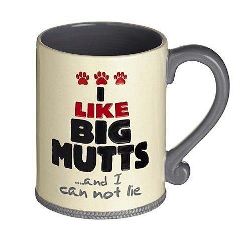 """I Like Big Mutts"" Ceramic Coffee Mug Woof Animal Pet Lover Gift Grasslands Road"