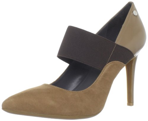 Calvin Klein Women's Nessah Suede/Calf Mary Jane Pump