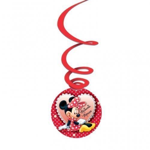 Mickey & Minnie Mouse - Decorazioni per feste, motivo Minni, confezione da 3, colore: Rosso/A pois