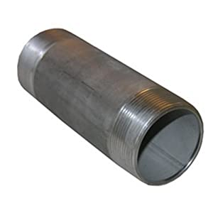 LASCO 32-2100 Stainless Steel Pipe Nipple with 1 1/2-Inch Male Pipe Thread