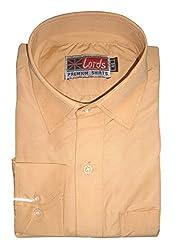 Lords Wear Men's Formal Shirt (LordsWear_Orange _38)