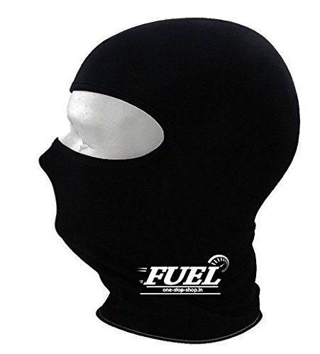 FUEL Cotton Face Mask/Balaclava For Bikers/Cyclist M Size- Black (Set Of 2)