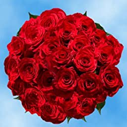 100 Fresh Cut Red Roses | Night Fever Roses | Fresh Flowers Express Delivery | Perfect for Birthdays, Anniversary or any occasion.