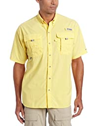 Columbia Men\'s Bahama II Short Sleeve Shirt, Large, Sunlit