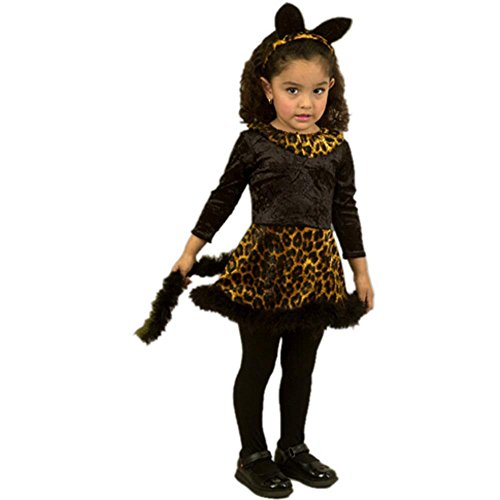 Child's Toddler Cat Dress Halloween Costume (2-4T)