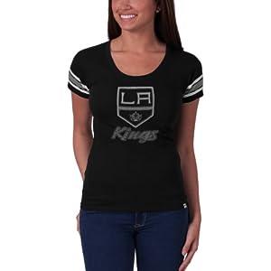 NHL Los Angeles Kings Off Campus Scoop Tee, Jet Black by
