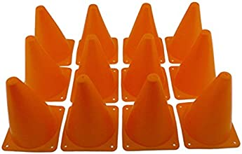 Adorox 7quot Tall Sports Orange Training Cones Football Soccer Traffic Safety
