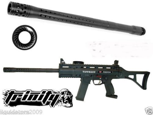 "Trinity Paintball Accurate Rifle Barrel 16"" Long For Tippmann A-5, Tippmann A5 Barrel, Tippmann X7 Barrel, Tippmann X-7 Barrel, Tippmann Phenom Barrel, Tippmann Cronus Barrel, Bt Omega Barrel, Bt Slice Barrel, Bt Delta Barrel, Bt Delta Elite Barrel, Bt Co"