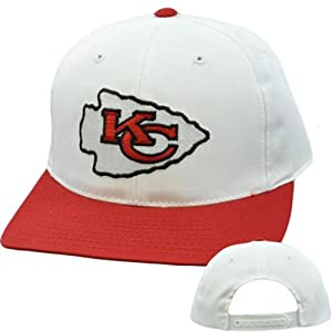 NFL Kansas City Chiefs Vintage Retro Deadstock White Red Snapback Logo Hat Cap by Annco
