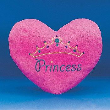 Plush Princess Heart Pillow