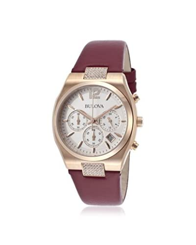 Bulova Women's Crystals Red Stainless Steel Watch