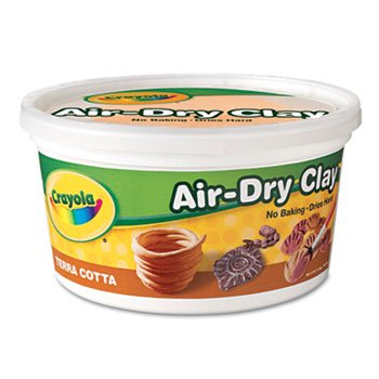 6 Pack Air-Dry Clay, Terra Cotta, 2 1/2 lbs by Crayola. (Catalog Category: Paper, Pens & Desk Supplies / Art & Drafting)