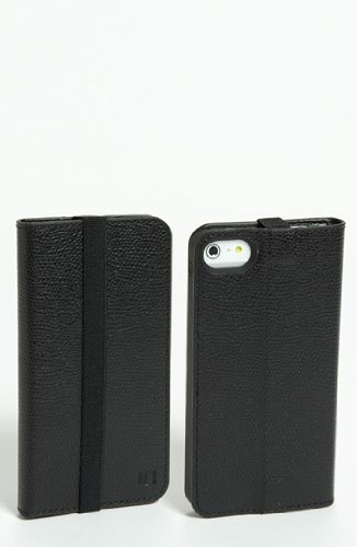Great Price August Accessories HX1306-TOBK Hex Axis Wallet Case for iPhone 5 - Retail Packaging - Torino Leather