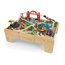 Kidkraft Limited Edition Roundhouse Train Set & Table w/ 2 Drawers & Sounds