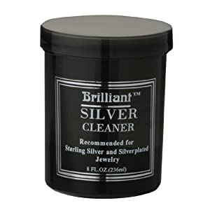 Brilliant® 8 Oz Silver Jewelry Cleaner with Cleaning Basket (Actual Color Of Bottle May Vary)
