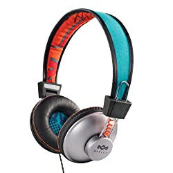 House of Marley EM-JH010-SU Positive Vibrations On-Ear Headphone with Mic (Sun)