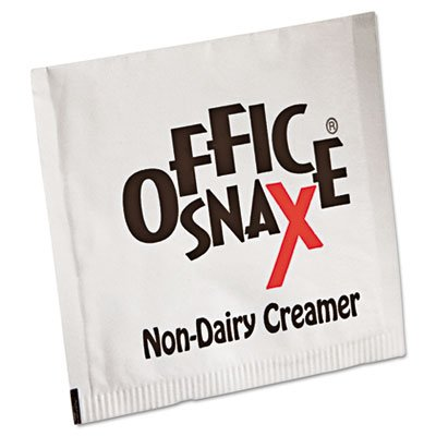 Office Snax Premeasured Single-Serve Packets, Powder Non-Dairy Creamer, 800/Carton