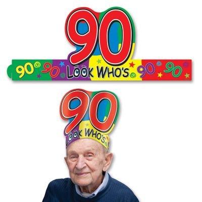 """Look Who's """"90"""" Headband Party Accessory"""