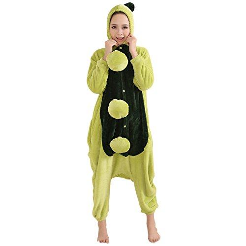 honeystore unisex erwachsene pyjamas jumpsuit flannel party kost m erbse strampler siamesische. Black Bedroom Furniture Sets. Home Design Ideas