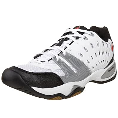 Prince Ektelon Unisex T-22 Indoor Court Shoes,White/Black/Red,6.5 M Men's/8 M Women's