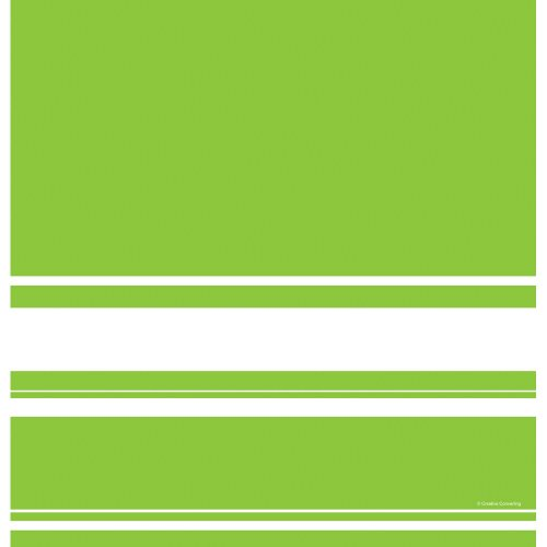 Creative Converting Coordinates Collection Plastic Banquet Table Cover, Fresh Lime Stripe