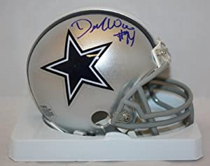 Demarcus Ware Signed Autograph Dallas Cowboys Mini Helmet Authentic Certified Coa