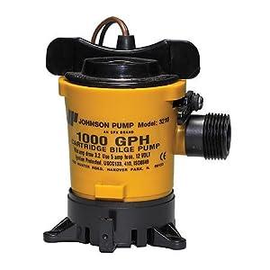 Buy Johnson Pumps Of America 32102 Marine 1000 GPH Cartridge Style Bilge Pump by Johnson Pump