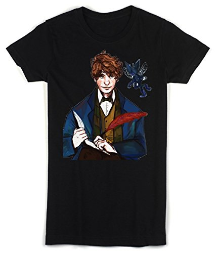 Fantastic Beasts and Where to Find Them Movie Character Newt Scamander Women's T-shirt XX-Large