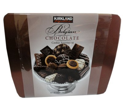 Kirkland Signature Deluxe Belgian Chocolate Cookie Holiday Gift Assortment 3 Pound 2 Ounce Gift Tin