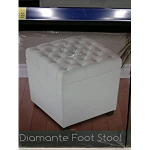 It Is Truly An Amazing For Sale PVC Diamante Diamond Foot Stool Storage  Box.. I Highly Recommend For Sale This Product For Anyone. I Absolutly Love  It!