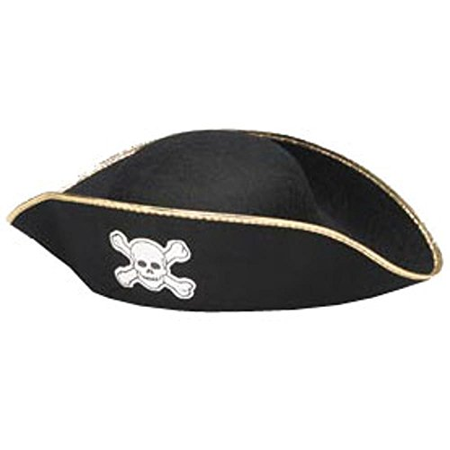 Jacobson Hats Men's Pirate Costume Hat with Gold Trim