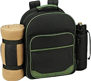 Picnic at Ascot Eco Picnic Backpack for Four with Blanket