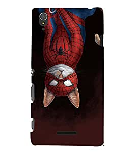 EPICCASE dangerous spider cat Mobile Back Case Cover For Sony Xperia T3 (Designer Case)