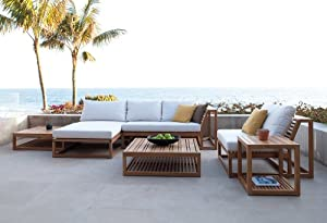 Teak Modern Outdoor Furniture Set - Outdoor And Patio Furniture Sets