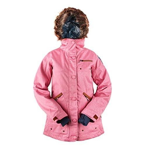 KELLAN(ケラン) STELLA JKT ステラ ジャケット [着脱可能フードファー付] レディス スノーボードウェア 710604 P-PINK Mサイズ