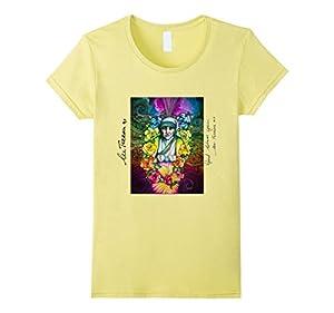 Women's Mother Teresa Shirt with saint love shirt Small Lemon