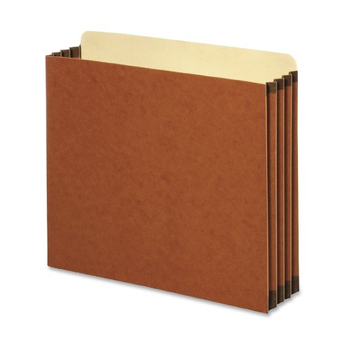 TOPS Globe-Weis Redrope File Cabinet Pockets, 5.25 Inch Expansion, Letter Size, 10 Pockets Per Box, Brown (FC1534G)