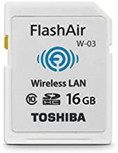 Comprar Toshiba FlashAir W-03 - Tarjeta de memoria SecureDigital de 16 GB, blanco