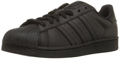 Adidas Originals Men's Superstar Foundation Casual Sneaker, Black/Black/Black, 9 M US