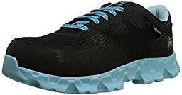 Timberland PRO Women\'s Powertrain Alloy Toe ESD W Industrial Shoe,Black/Blue Microfiber And Textile,8 M US