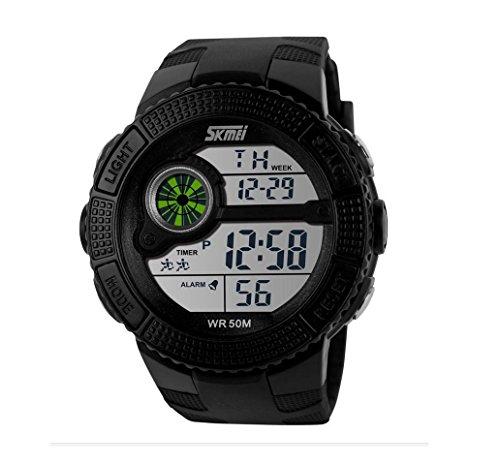 Black Mens Watch Brands Wristwatch For Running Mens Sport Watches