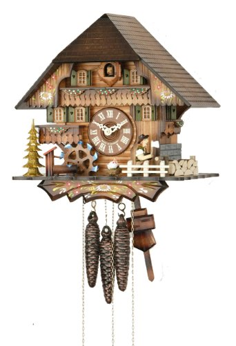 Hekas 1 Day Musical Cuckoo Clock With Moving Wood Chopper