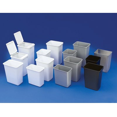 Rev-A-Shelf RV35-8 RV Series 35 Quart Polymer Waste Containers, White