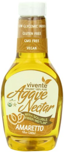 Vivente Organic Agave Nectar With Fiber, Amaretto Flavored, 12.17 Ounce