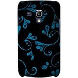 Beautiful Blue Black Pattern Hard Polycarbonate Designer Back Case Cover For Samsung Galaxy S3 Mini I8190 :: Samsung...