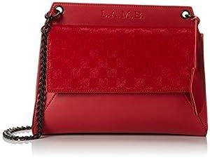 L.A.M.B. Edsel Shoulder Bag,Red,One Size